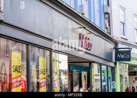 M&Co shop front sign in Teignmouth, Devon, UK. 2018. - Stock Image