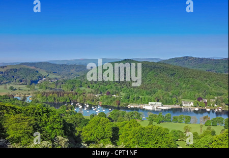 South end of lake windermere - Stock Image