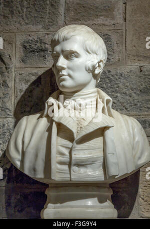 Robert Burns statue - Stock Image