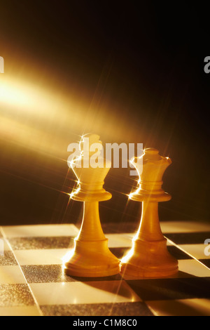 Royal Wedding, Chess King and Queen - Stock Image