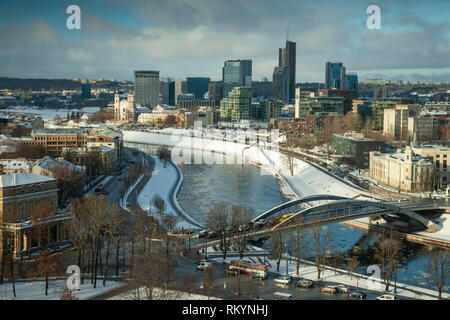 Winter afternoon in Vilnius. - Stock Image