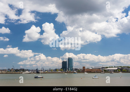 View from Upnor to St Marys Island Chatham Kent - Stock Image
