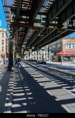 52 Street - Lincoln Av Station, Queens, NY, usa, united states of america - Stock Image