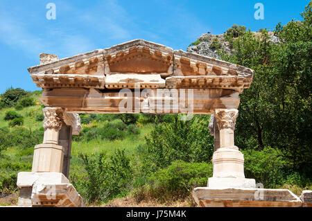 Fountain of Trajan in Ephesus, Turke - Stock Image