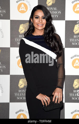 LONDON, UK. March 19, 2019: Saira Khan arriving for the Royal Television Society Awards 2019 at the Grosvenor House Hotel, London. Picture: Steve Vas/Featureflash Credit: Paul Smith/Alamy Live News - Stock Image