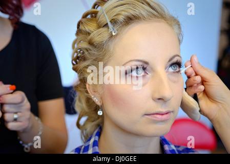 Wedding make-up - Stock Image