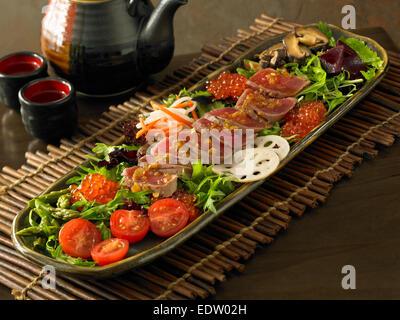 Sashimi salad - Stock Image
