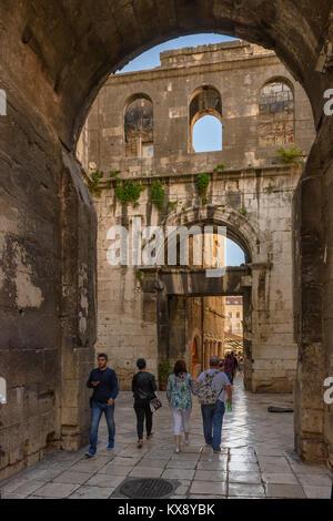 Iron Gate, Diocletian's Palace, Split, Croatia - Stock Image
