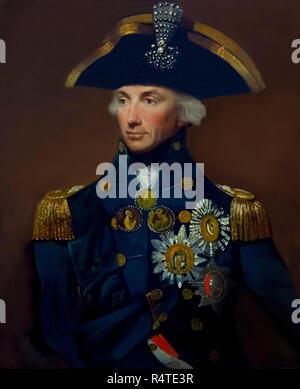 Rear-Admiral Sir Horatio Nelson, Lemuel Francis Abbott, 1799, portrait, - Stock Image