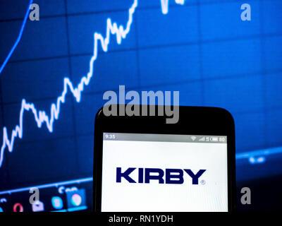 Ukraine. 16th Feb, 2019. Kirby Company logo seen displayed on a smart phone. Credit: Igor Golovniov/SOPA Images/ZUMA Wire/Alamy Live News - Stock Image