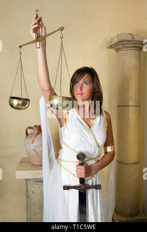 Libra or Scales, this photo is part of a series of twelve Zodiac signs of astrology - Stock Image