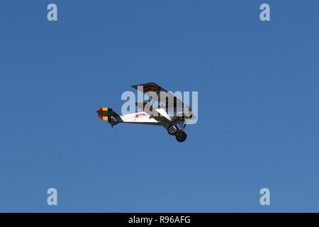 NIEUPORT II airplane replica. N2535N. World War 1 Dawn Patrol Anniversary Rendezvous event. The National Museum of the United States Air Force, Wright - Stock Image