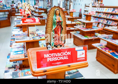 Cartagena Colombia Old Walled City Center centre Centro Society of Saint Paul San Pablo Christian religious bookstore books statues display sale sign - Stock Image
