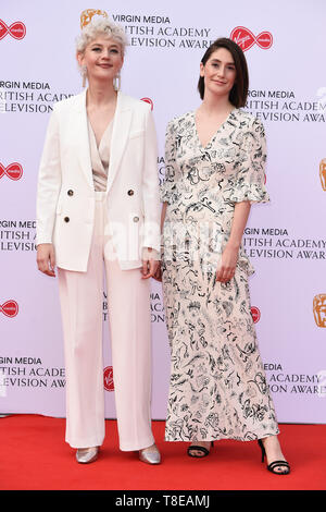 LONDON, UK. May 12, 2019: Ellen Robertson & Charly Clive arriving for the BAFTA TV Awards 2019 at the Royal Festival Hall, London. Picture: Steve Vas/Featureflash - Stock Image