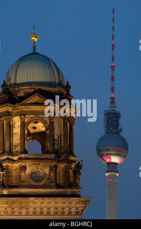 Alexanderplatz and Berliner Dom - Stock Image