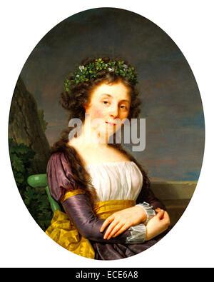 Portrait of Marie-Louise Joubert, neé Poulletier de Perigny; François-Xavier Fabre, French, 1766 - 1837; - Stock Image