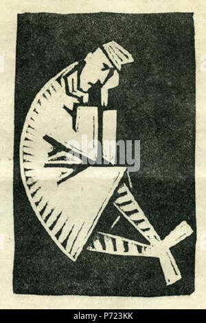 25 Josef Čapek - Sedící voják (1919) - Stock Image