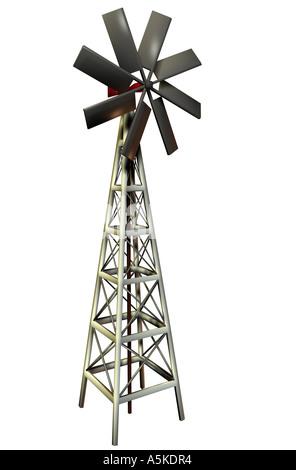 Wind power station symbolic grafic - Stock Image