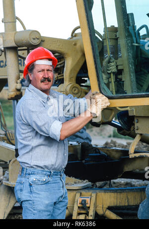 Construction Worker on Site, USA - Stock Image