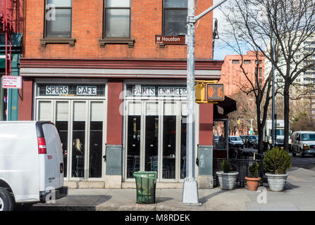 New York, NY, USA - After 39 years in business, Silver Spurs, a coffee shop, is slated to close by the end of the - Stock Image