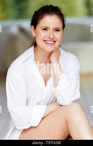 Beautiful girl relaxing - Stock Image