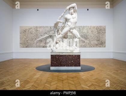 Antonio Canova, Hercules and Lichas, marble sculpture, 1815, Italian Necoclassical art, Galleria Nazionale di Arte Moderna Rome - Stock Image