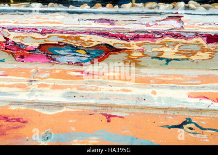 Distressed paintwork - Stock Image