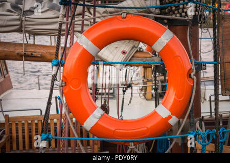 Lifebuoy carried by ship - Stock Image