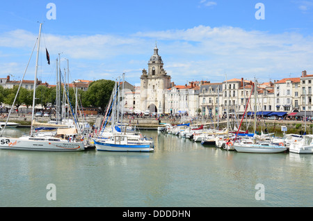 Vieux-port Old port in  la Rochelle, Charente Maritime, France - Stock Image