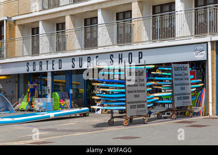 Sorted Surf Shop at Boscombe, Bournemouth, Dorset UK in July - Stock Image