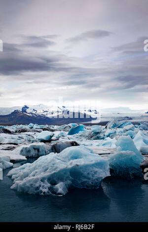 Jökulsárlón, See, Island, Landschaft - Stock Image