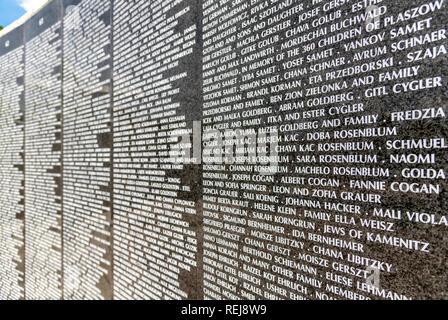 The Holocaust Memorial of the Greater Miami Jewish Federation, Miami Beach, Florida. - Stock Image