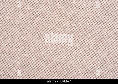 Abstract beige fabric texture background. Book cover - Stock Image