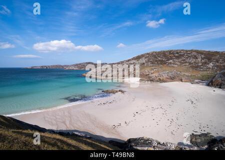 Achmelvich Beach on the north coast 500 near Lochinver, Assynt, Scotland - Stock Image