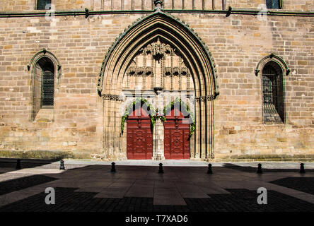 Cahors Cathedral is a Roman Catholic church located in the town of Cahors, Occitanie, France. Portal. - Stock Image