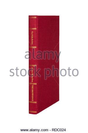 The Folio Society edition of 'The Brorwnings', by Joanna Richardson.  Isolated on white background. - Stock Image
