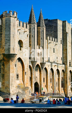 The Pope's palace at Avignon France - Stock Image