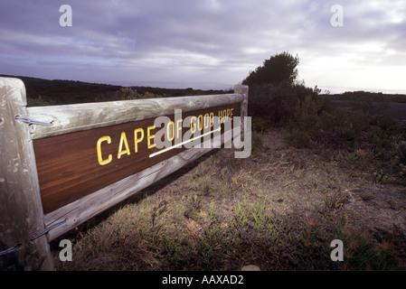 Cape of Good Hope national park entrance sign - Stock Image