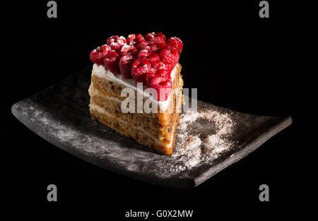 Closeup of cakes. Dessert - Stock Image