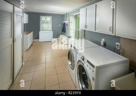 Laundry Room Architectural Interior Philadelphia USA - Stock Image