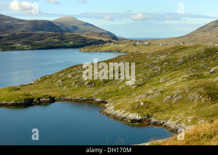 View of Tarbert on the Isle of Harris - Stock Image