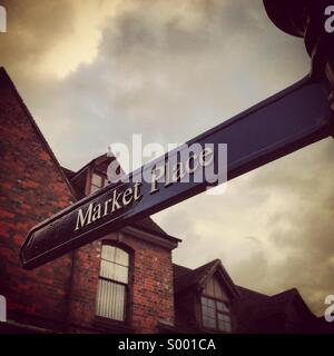 Market place street sign - Stock Image