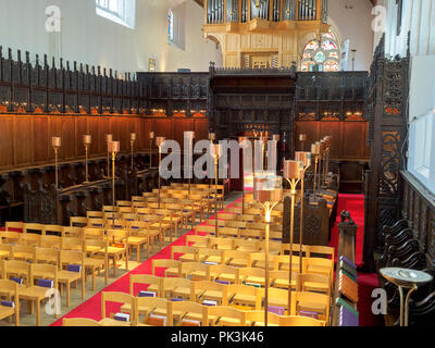 Inside the Chapel of King's College at Aberdeen University, Scotland - Stock Image