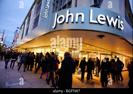 John Lewis department store on Oxford Street. London - Stock Image