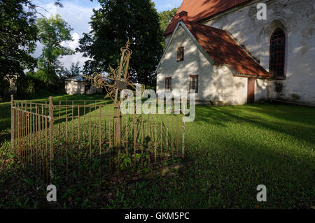 Old Tomb in the Mihkli churchyard. Mihkli Church in Pärnu County. Estonia Baltic States EU - Stock Image