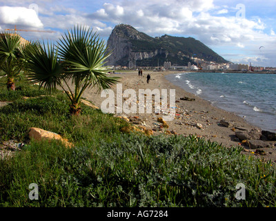 The majestic Rock of Gibraltar, Europe sun sky Gibraltar - Stock Image