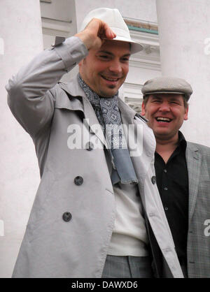 German jazz singer Roger Cicero poses in Helsinki, Finland, 09 May 2007. Cicero will represent Germany with his - Stock Image