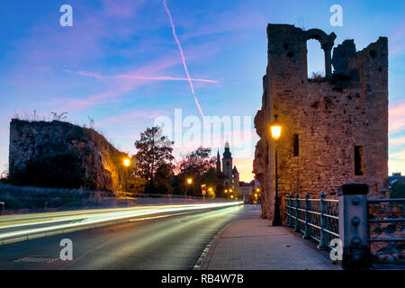 Ruins of the Dent Creuse in Montée de Clausen, Luxembourg city, Luxembourg - Stock Image