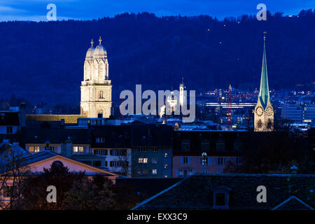 Churches of Zurich - Stock Image