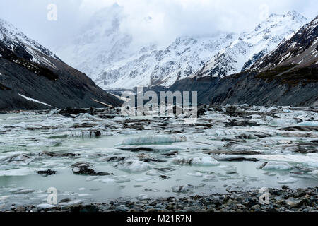 Lake with icebergs - Stock Image